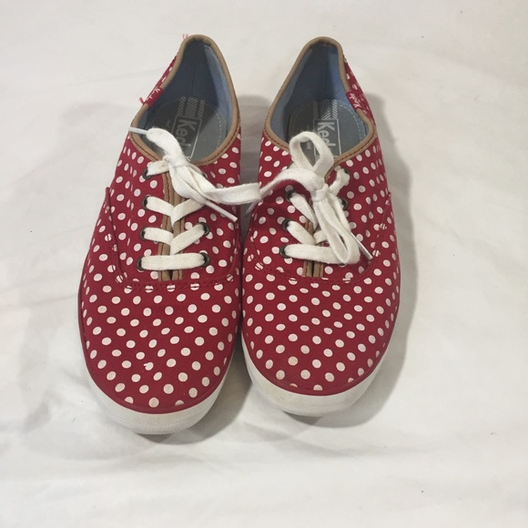 d370fb207b3 Keds Shoes - Keds Champion Red Polka Dot Canvas Shoes Size 8.5